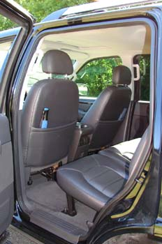 interior of Explorer SUV
